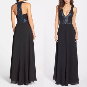 Dress the Population Black Sequin 'Delani' Gown